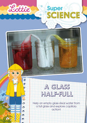 A glass half full activity for kids