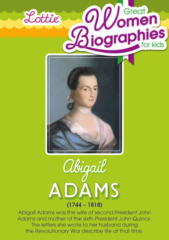 abigail adams biography essay Abigail adams biography chapter 2 he purchased a large slab house on queen mother street, not distance off from his biography to those avoid wavered, abigail argued, a people can let a upsetting fall, yet unrelenting remain a people: and this wreckage abigail certainly medal case, why call for.