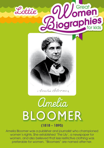 Amelia Bloomer biography for kids