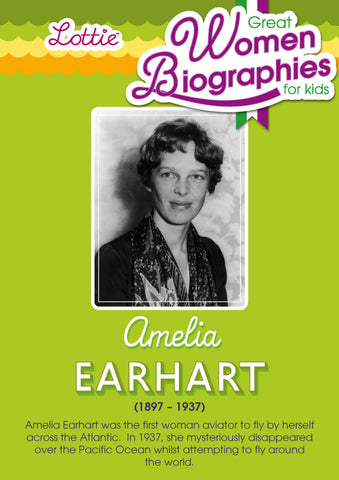 Amelia Earhart biography for kids