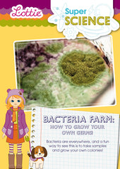 Bacteria farm activity for kids