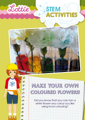 Make your Own Colored Flowers STEM Activity