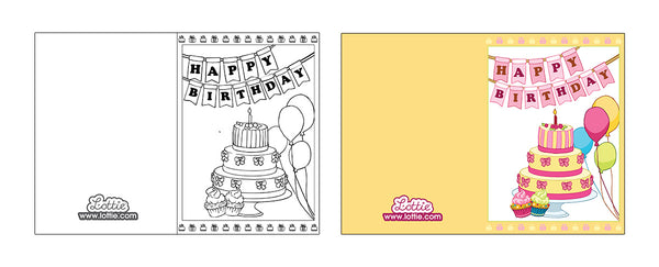 Lottie Birthday Colouring Card