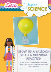 Blow up a baloon with a chemical reaction activity for kids