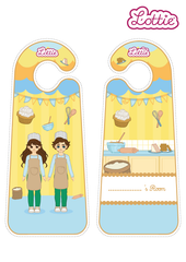 Cake Bake Lottie printable Door Hangers
