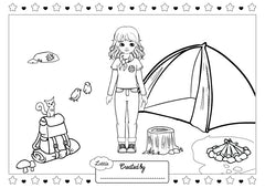 Campfire Fun Playset Colouring Page