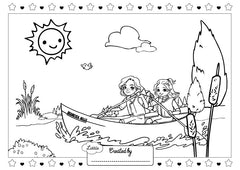 Canoe Adventure Colouring Sheet