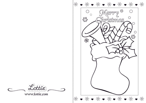 Lottie Christmas Colouring card