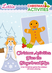 Christmas Activities Face the Gingerbread Man