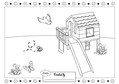 Doll Treehouse Colouring Sheet