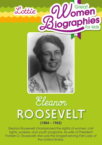 Eleanor Roosevelt biography for kids