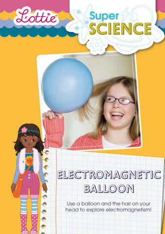 Electromagnetic balloon activity for kids