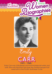 Emily Carr Biography for kids