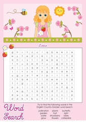 English Country Garden Lottie printable word search
