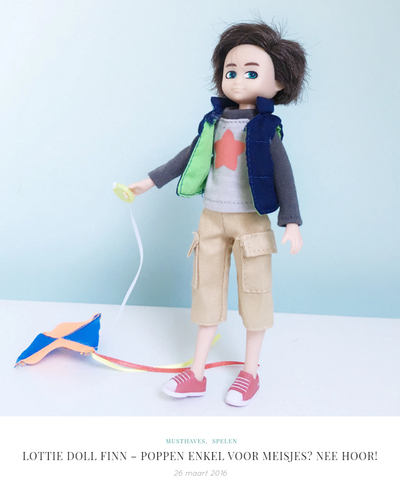 Unicorns and Fairytales - Lottie Dolls Kite Flyer Finn Boy Doll