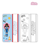 Girls United Lottie printable bookmark