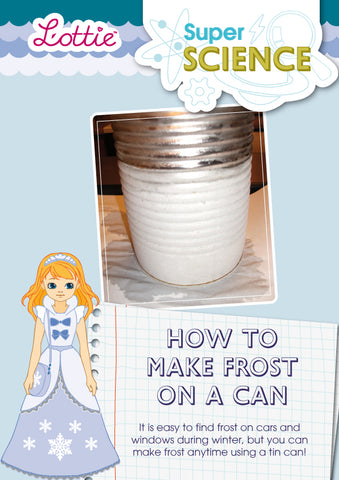 How to make frost on a can activity for kids