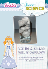 Ice in a glass activity for kids