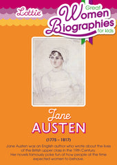 Jane Austen biography for kids