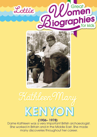 Dame Kathleen Kenyon biography for kids