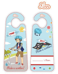Finn Scooter printable door hangers