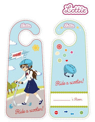 Scooter Lottie printable door hangers