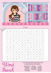 Story Time Lottie printable wordsearch