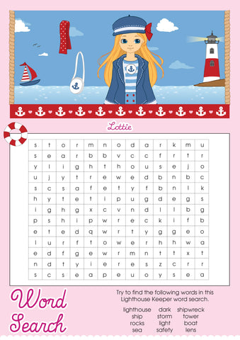 Lighthouse Keeper Lottie printable word search