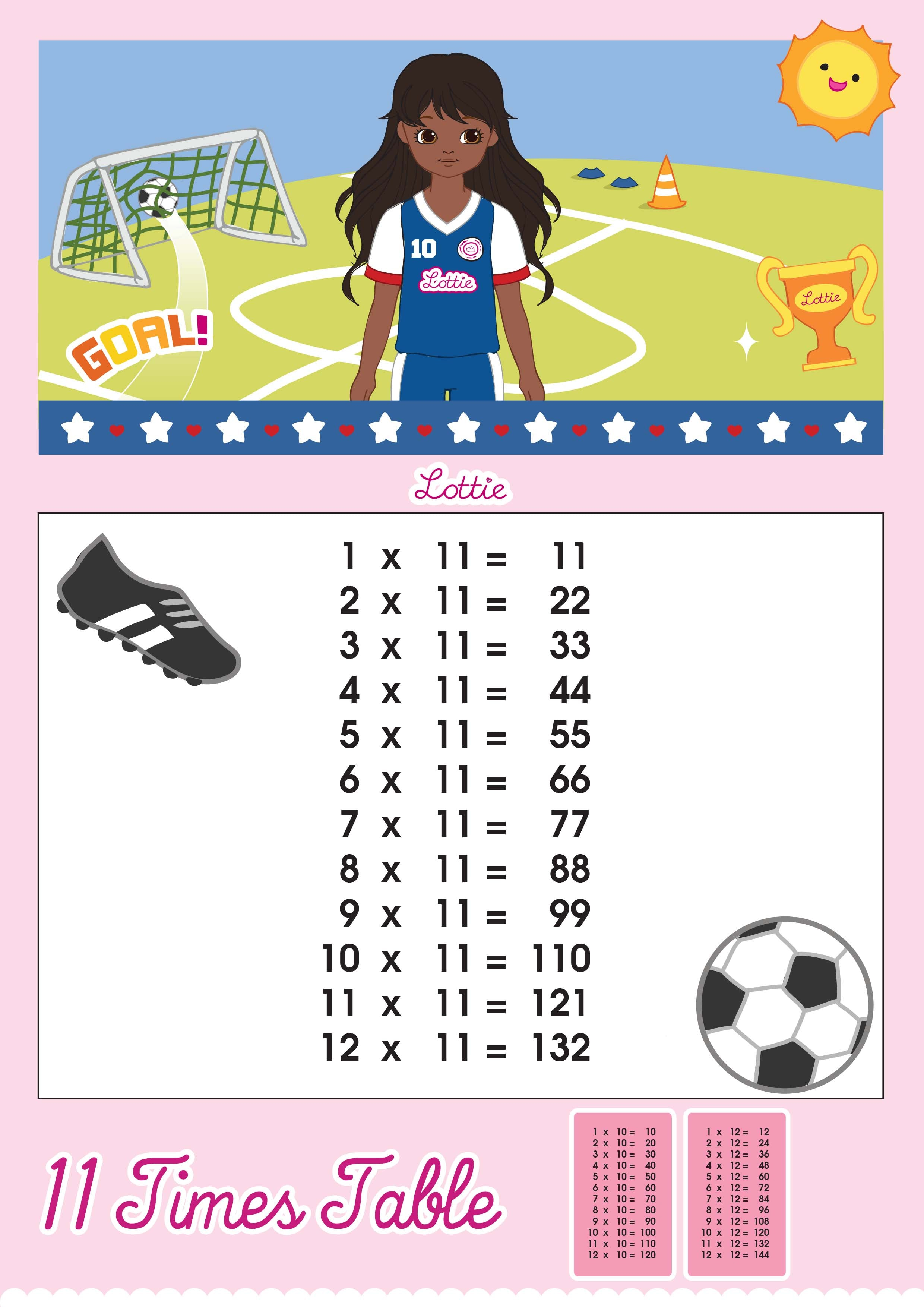 Worksheet Download Times Tables 11 times table printable chart lottie dolls download this