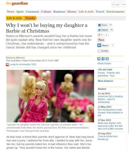 Lottie dolls in The Guardian