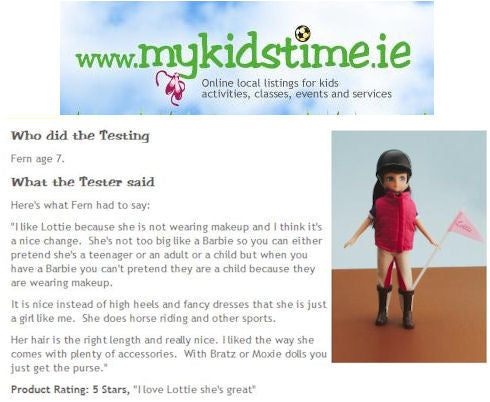Pony Flag Race Lottie Doll review by MyKidsTime.ie
