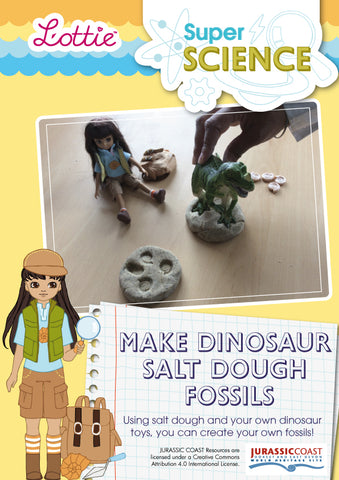 Make dinosaur salt dough fossils activity for kids