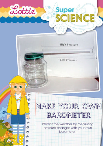 Make your own barometer activity for kids