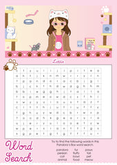 Pandora's Box Lottie printable word search