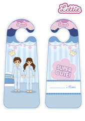 Pyjama Party Lottie printable Door Hangers