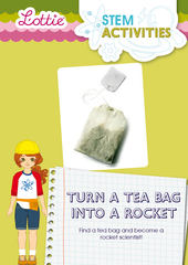Tea bag into a rocket STEM Activity