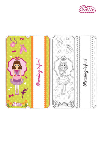 Spring Celebration Ballet Lottie printable bookmark