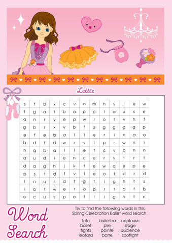 Spring Celebration Ballet Lottie printable word search