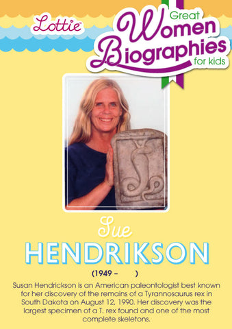 Sue Hendrickson biography for kids