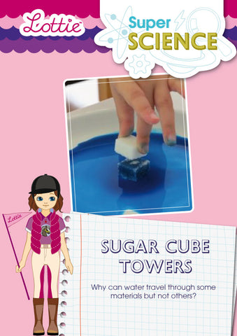 Sugar cube towers activity for kids
