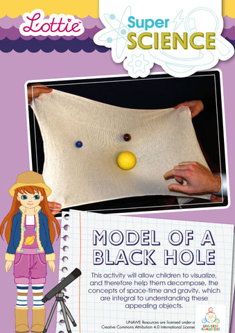 Model of a black hole activity for kids