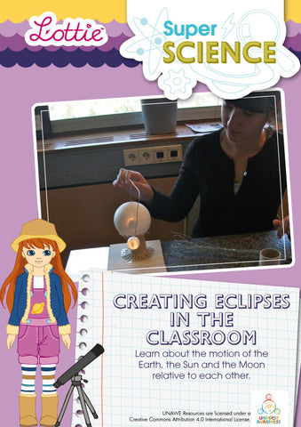 Creating eclipses in the classroom science activity for kids