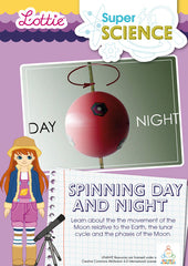 Spinning day and night science activity for kids