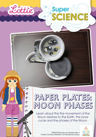 Paper Plates Moon Phases