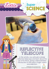Make a reflective telescope science activity for kids