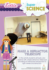 Make a refractor telescope science activity for kids
