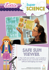 Safe sun viewer Science activity for kids