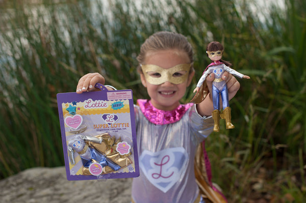 Superhero Lottie - Real Girl Inspired - Superhero doll for girl Lottie Dolls