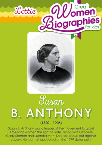 Susan B. Anthony biography for kids