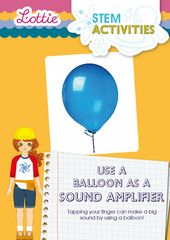 Balloon as sound amplifier STEM Activity